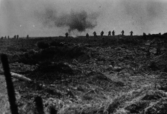 German troops attack Soviet lines. Soviet Union, 1943-1944.