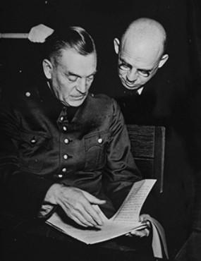 Defendants Wilhelm Keitel and Fritz Sauckel.