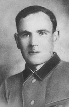 Postwar portrait of Alexander Bielski, a founding member of the Bielski partisan group. 1945-1948.
