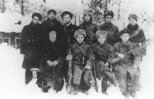 Jewish partisans in the Polesye region. Poland, 1943.