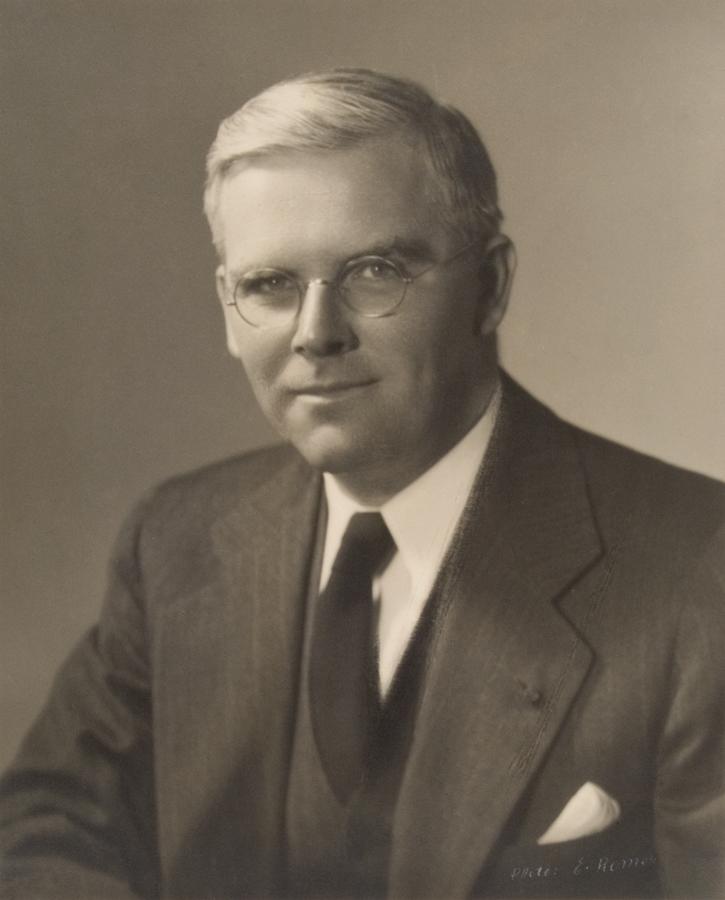 Studio portrait of Waitstill Sharp.
