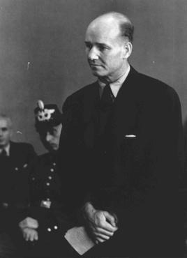 Carl Heinrich Langbehn, an attorney who was slated for a possible cabinet seat had the July 1944 attempt on Hitler's life succeeded, on trial before the People's Court in Berlin. Langbehn was executed in the Ploetzensee prison on October 12, 1944.