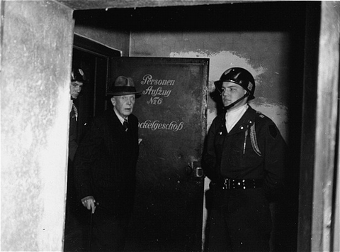 Hans Lammers, former chief of the Reich Chancellery and legal adviser to Hitler, is pictured following his sentencing to 20 years imprisonment by the IMT. Nuremberg, April 13, 1949. After two reductions of his sentence, Lammers was released from prison in December 1951. He died a free man in 1962.