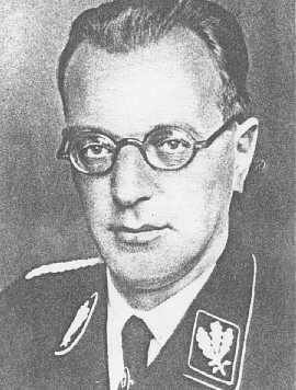 Le nazi autrichien Arthur Seyss-Inquart. Lieu et date incertains.