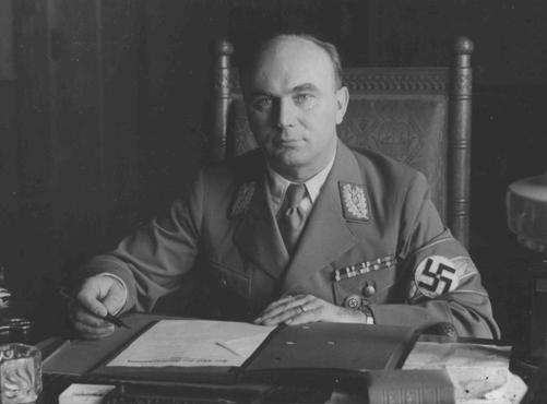 Arthur Greiser, a leading Nazi party official in Danzig. He became the head of the Danzig Senate in 1934. After the beginning of World War II, he became administrator of the Warthegau.