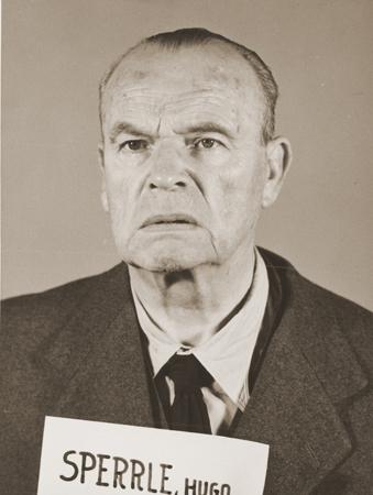 Mug shot of former German Field Marshal Hugo Sperrle, a defendant in the High Command Case.