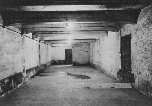 Gas chamber in the main camp of Auschwitz immediately after liberation. Poland, January 1945.