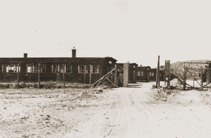 View of the Natzweiler concentration camp. 1945.