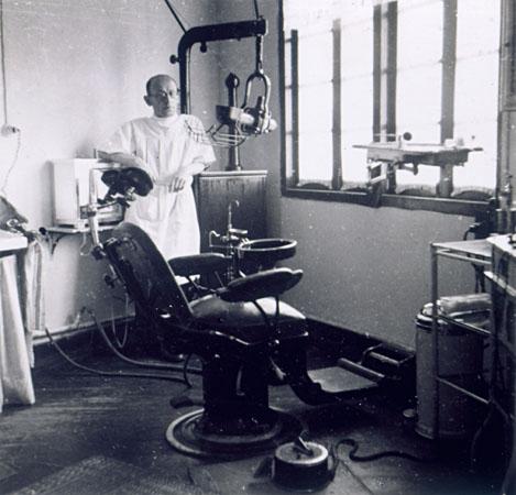 Dr. Heinrich Mannes, a refugee dentist in Shanghai.