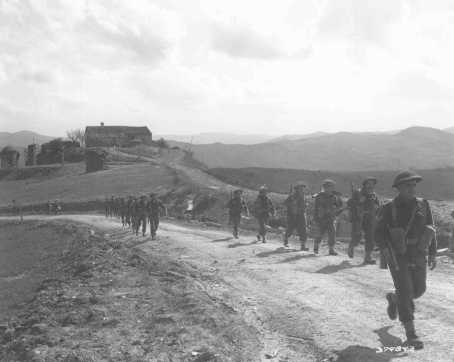 Members of the Jewish Brigade Group prepare for the final Allied offensive in Italy. March 28, 1945.
