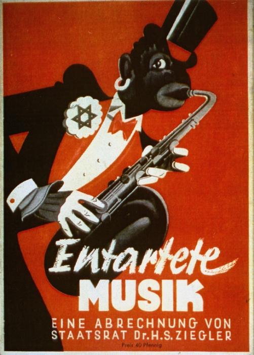 Couverture d'une brochure de propagande nazie anti-noire et antisémite. Düsseldorf, Allemagne, 1938.