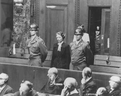 Herta Oberhauser, who was a physician at the Ravenbrueck concentration camp, is sentenced at the Doctors Trial in Nuremberg. Oberhauser was found guilty of performing medical experiments on camp inmates and was sentenced to 20 years in prison. Nuremberg, Germany, August 20, 1947.