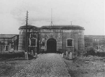 Entrance to the Breendonk internment camp. Breendonk, Belgium, 1940-1944.