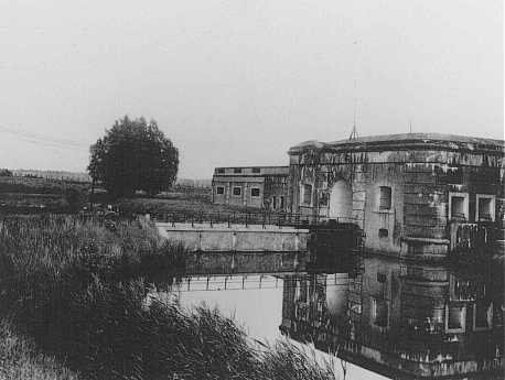 A view of the Breendonk internment camp. Breendonk, Belgium, postwar.