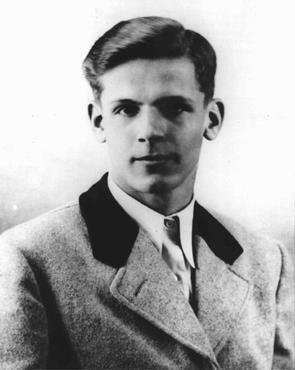 Christoph Probst, a member of the White Rose student opposition group. Probst, arrested and condemned to death by the People's Court, was executed on February 22, 1943.