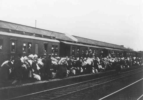 Deportation of Jews from Bielefeld to Riga, Latvia. Bielefeld, Germany, December 13, 1941.