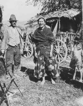 Nomadic Roma (Gypsies). Czechoslovakia, 1939.