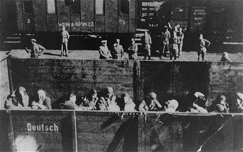 Deportation of Jewish women from the Warsaw ghetto. Poland, 1942-1943.