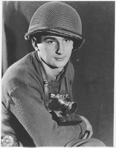 Portrait of US Army Signal Corps photographer J Malan Heslop.