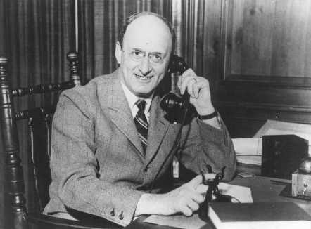 Henry Morgenthau Jr., Secretary of the Treasury under Franklin D. Roosevelt. Washington, DC, United States, date uncertain.