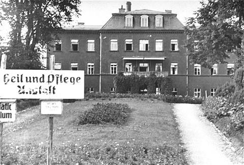 カウフボイレン安楽死施設。 ドイツ、1945年。