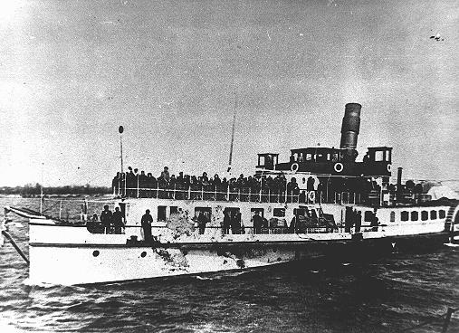 Juifs des territoires sous occupation bulgare lors de la déportation le long du Danube vers Vienne, d'où ils furent déportés par train vers le camp d'extermination de Treblinka dans la Pologne sous occupation allemande. Lom, Bulgarie, du 11 au 31 mars 1943.