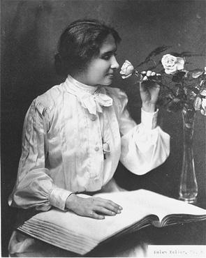 Helen Keller, ca. 1910.