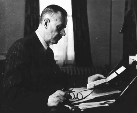 Thomas Mann, seen here in Germany before the war, was a noted German novelist and Nobel Laureate. He denounced the Nazis and emigrated to the United States in 1938 after his German citizenship was revoked. Germany, prewar.