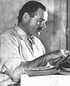 "Ernest Hemingway, among the greatest American novelists, was a member of the ""Lost Generation"" of expatriate writers who were disillusioned by war. In 1933 the Nazis burned Hemingway's novels as part of the public book burning in Berlin. United States, ca. 1950."