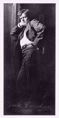 Portrait of Jack London. Place and date uncertain.