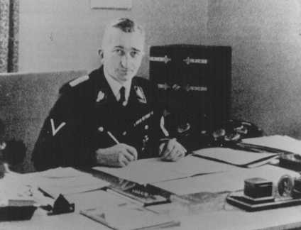 Arthur Nebe, head of the Nazi criminal police (Kripo). Germany, date uncertain.