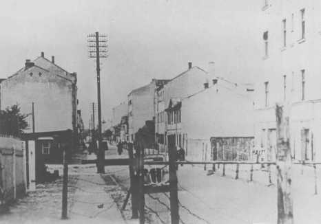 Entrance to the Riga ghetto. Riga, Latvia, 1941-1943.