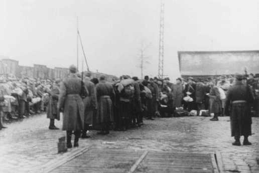 Deportation of Jews from the Jozsefvarosi train station in Budapest. Hungary, November 1944.