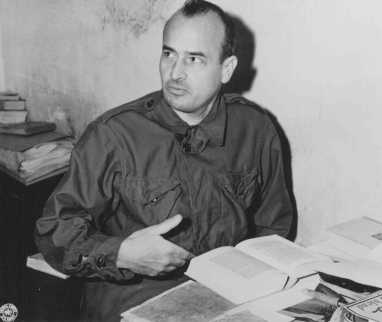 Defendant Hans Frank, former Governor General of occupied Poland, in his cell at the Nuremberg prison. November 24, 1945.