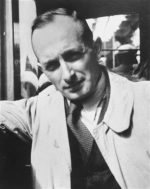 Adolf Eichmann, SS official in charge of deporting European Jewry. Germany, 1940.