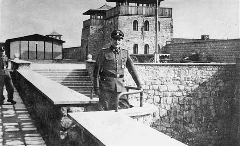 SS Colonel Franz Ziereis, commandant of the Mauthausen concentration camp. Austria, date uncertain.