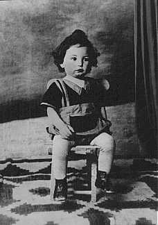 An 18-month-old Jewish boy, Chaim Leib, who was murdered at the Auschwitz killing center in Poland. Bukovina, Romania, 1942.