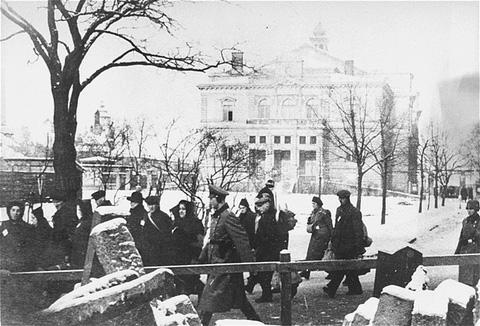 Déportation des Juifs de Plzen. Tchécoslovaquie, 1942.