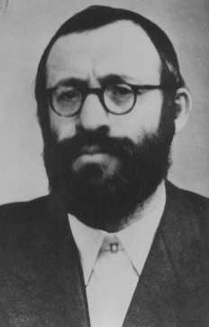 Rabbi Michael Dov Weissmandel, leader of the Working Group (Pracovna Skupina), a Jewish underground group devoted to the rescue of Slovak Jewry. Czechoslovakia, date uncertain.
