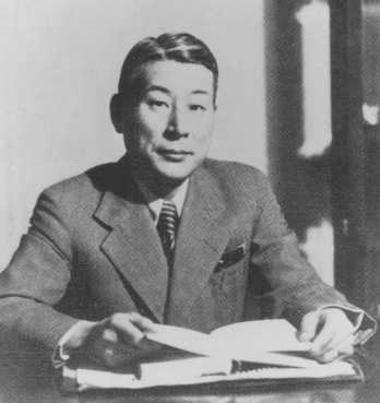 Chiune Sugihara, Japanese consul general in Kovno, Lithuania, who in July-August 1940 issued more than 2,000 transit visas for Jewish refugees. Helsinki, Finland, 1937–1938.