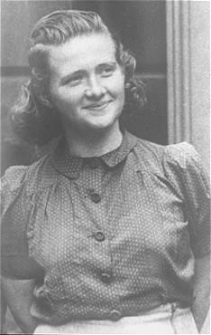 Haika Grosman, one of the organizers of the Bialystok ghetto underground and participant in the Bialystok ghetto revolt. Poland, 1945.