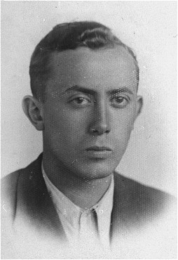 Arie Wilner, a founder of the Warsaw ghetto's Jewish Fighting Organization (ZOB). He was killed in the Warsaw ghetto uprising. Warsaw, Poland, before 1943.