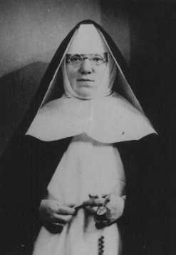 "Portrait of Mother Superior Alfonse, who hid Jewish children from the Nazis in the Dominican Convent of Lubbeek near Hasselt. Yad Vashem recognized her as ""Righteous Among the Nations."" Belgium, wartime"