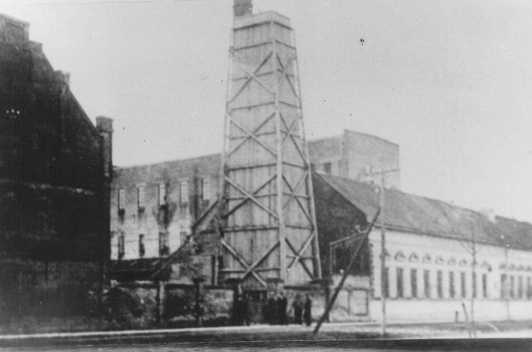 Djakovo concentration camp, where Croatian Jews were imprisoned and killed, was located in this former flour mill. Yugoslavia, wartime.