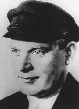 Ernst Thaelmann, leader of the German Communist Party, was detained during a mass arrest of Communists following the fire that virtually destroyed the Reichstag (German parliament) building. Germany, date uncertain.