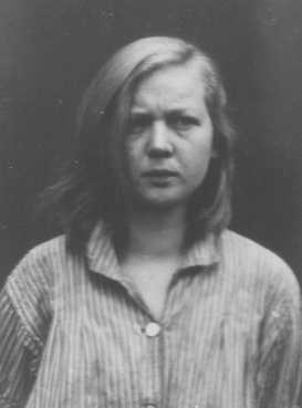 Emmi G., a 16-year-old housemaid diagnosed as schizophrenic. She was sterilized and sent to the Meseritz-Obrawalde euthanasia center where she was killed with an overdose of tranquilizers on December 7, 1942. Place and date uncertain.