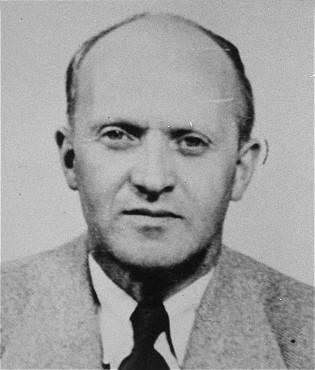 Klaas de Vries, un Témoin de Jéhovah hollandais qui fut déporté vers le camp de concentration de Sachsenhausen en Allemagne. Pays-Bas, date incertaine.