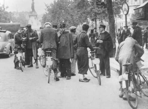 French police round up Jews. Paris, France, August 20, 1941.