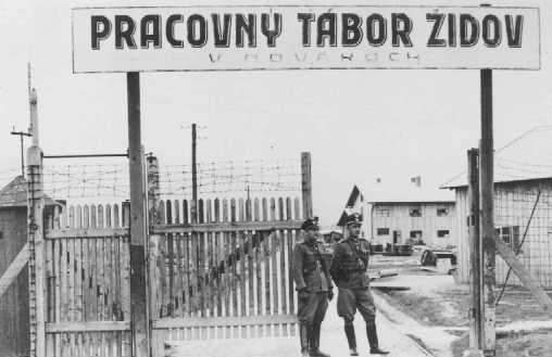 Ingreso al campo de trabajos forzados de Novaky. Checoslovaquia, 1942-1944.