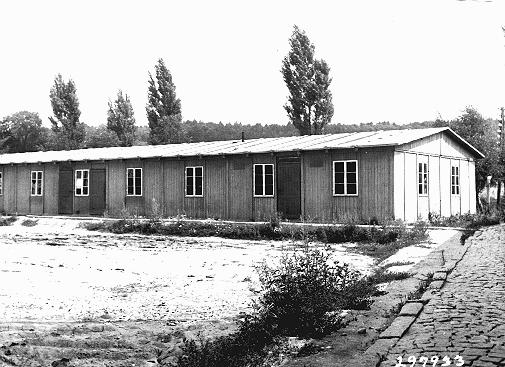 School building for children in the Ebelsberg camp for Jewish displaced persons. Ebelsberg, Austria, July 1947.